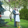 Just married in a beautiful garden — Stock Photo #6006526
