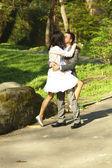 Se casó con parada en el camino — Foto de Stock
