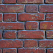 Background wall of red brick — Stock Photo