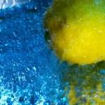 Lemon and water drops — Stock Photo