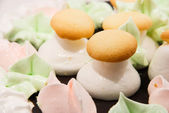 Cake in the form of mushrooms — Stock Photo
