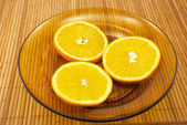 Oranges on a plate — Stock Photo