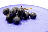 Grapes on a plate — Foto de Stock