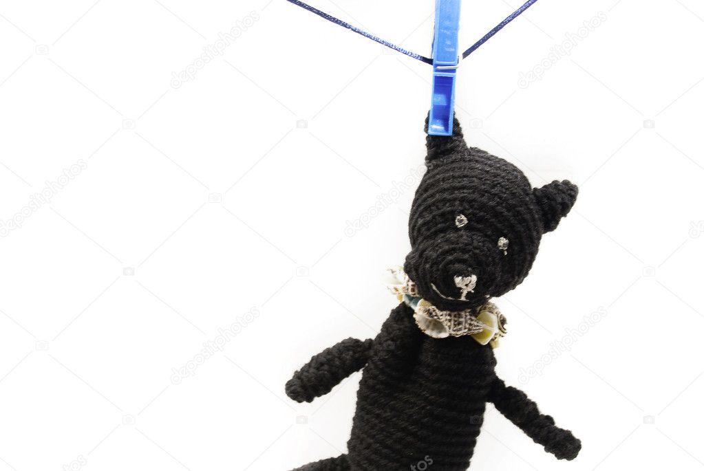 Bear hanging on pegs stock photo evgeniyauvarova 6020529 for Picture hanging pegs