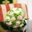 Stock Photo: Beautiful bridal bouquet lying on table