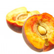 Peaches isolated on white — Lizenzfreies Foto