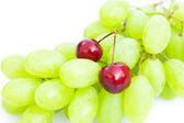 Grapes cherry isolated on white — Stock Photo