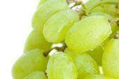 Uvas con gotas de agua aislados en blanco — Foto de Stock