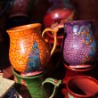 Ceramic pitchers on the market — Stock Photo #6062185