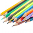 Colored pencils isolated on white — Lizenzfreies Foto