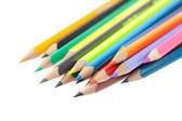 Kleurpotloden geïsoleerd op wit — Stockfoto