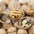 Stock Photo: Walnuts background