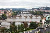 布拉格的桥梁的背景 — 图库照片