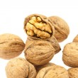 Stock Photo: Walnuts isolated on white
