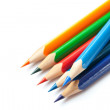 Colored pencils isolated on white — Zdjęcie stockowe