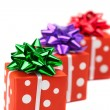 Stock Photo: Presents isolated on white