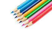 白で隔離される色鉛筆 — ストック写真