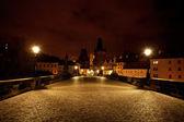 Eine schöne nacht von sicht von der karlsbrücke in prag — Stockfoto