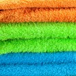 Background of the three multi colored terry towels — Zdjęcie stockowe