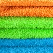 Background of the three multi colored terry towels — Stock Photo