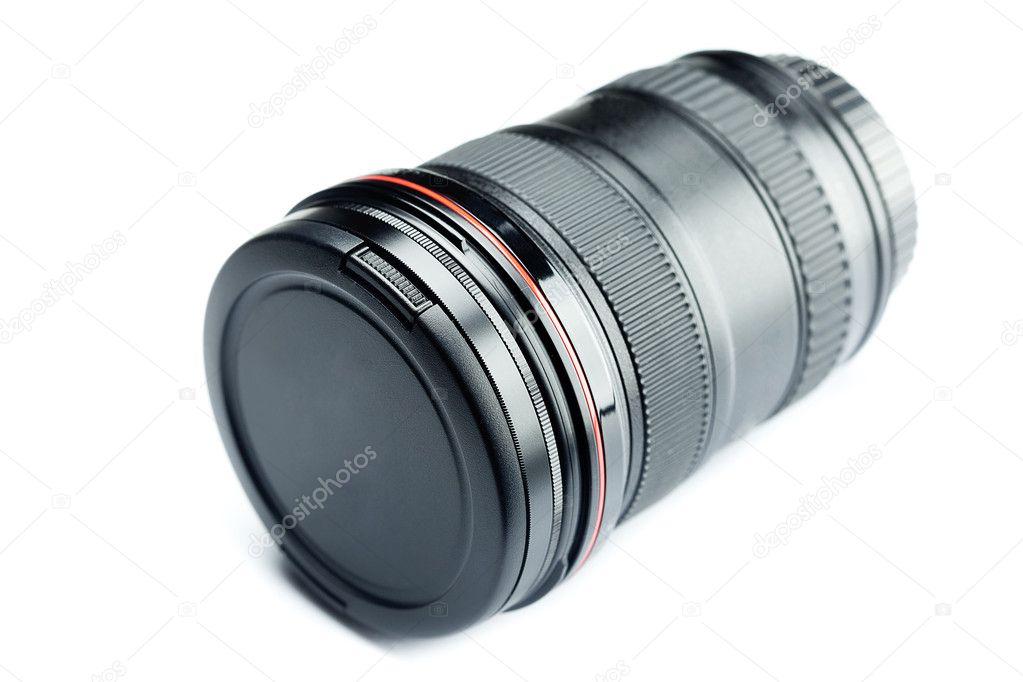 Lens isolated on white — Stock Photo #6125638