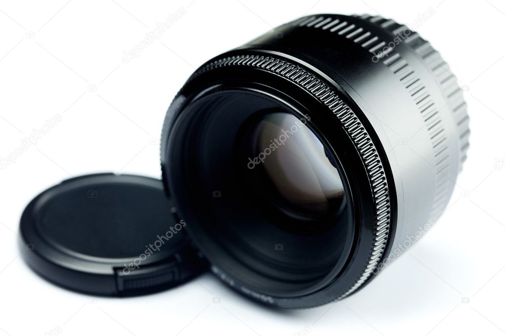 Lens isolated on white  Stock Photo #6125643