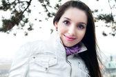 Portrait of a beautiful young woman in Prague — Foto de Stock