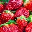 Background of red big juicy ripe strawberries - Stockfoto