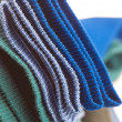 Background of multi colored socks made of cotton — Stock Photo