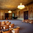 Ceremonial hall of the old European castle — Stock Photo