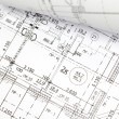 Stock Photo: Background of architectural drawing