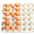Eggs as the number eight  isolated on white — Stock Photo