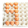Royalty-Free Stock Photo: Eggs as the number nine  isolated on white