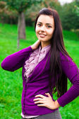 Portrait of a beautiful young woman outdoor — Stock Photo