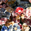 Background of colorful ceramic flowers — Stock Photo #6161470