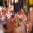Clay ornaments on the ropes at the fair - 