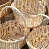 Background of the baskets at the fair — Stock Photo