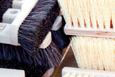 Background of the brush for sweeping the fair — Stock Photo