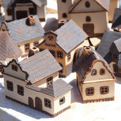 Clay houses at the fair — Stock Photo