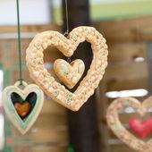 Ceramic heart at the fair — Stock Photo