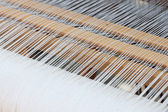 Background of the loom at the fair — Stock Photo