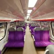 Salon of high speed train at railway station — Stock Photo #6179672