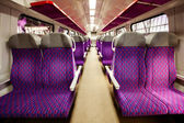 Salon of high speed train at a railway station — Stock Photo