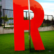 Stock Photo: Big orange letter r