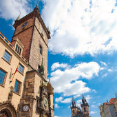 Old Town Square in Prague against the blue sky — Stock Photo
