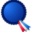 Blue small blank rosette — Stock Photo