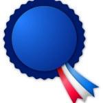 Blue small blank rosette — Stock Photo