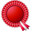 Red and White Rosette — Stock Photo