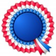 Blue red and white blank rosette — Stock Photo