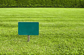 Keep of the grass blank sign — Stock Photo